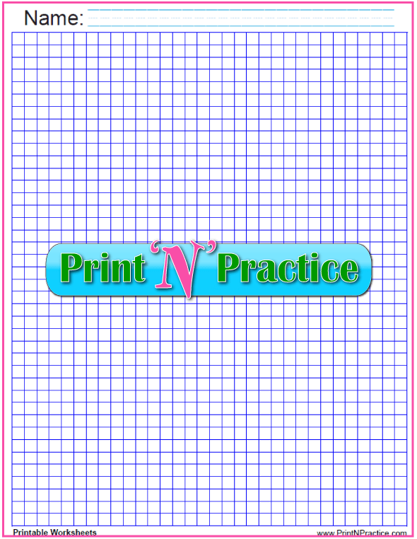 Printable Quarter inch graph - dark blue.