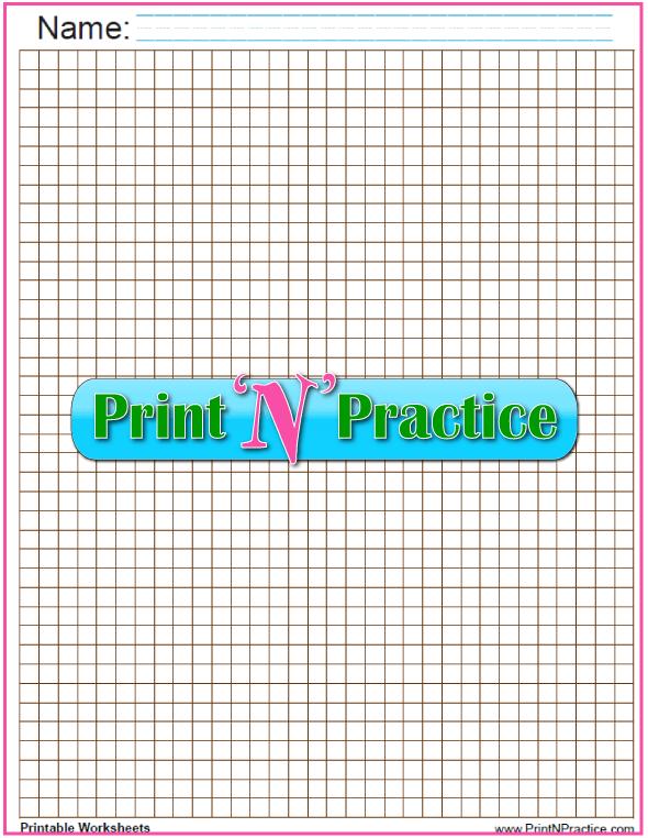 Quarter inch Math graph paper - brown.