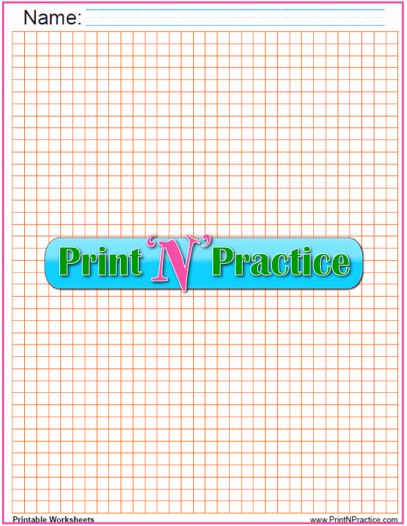 Quarter inch graph paper printable- orange.