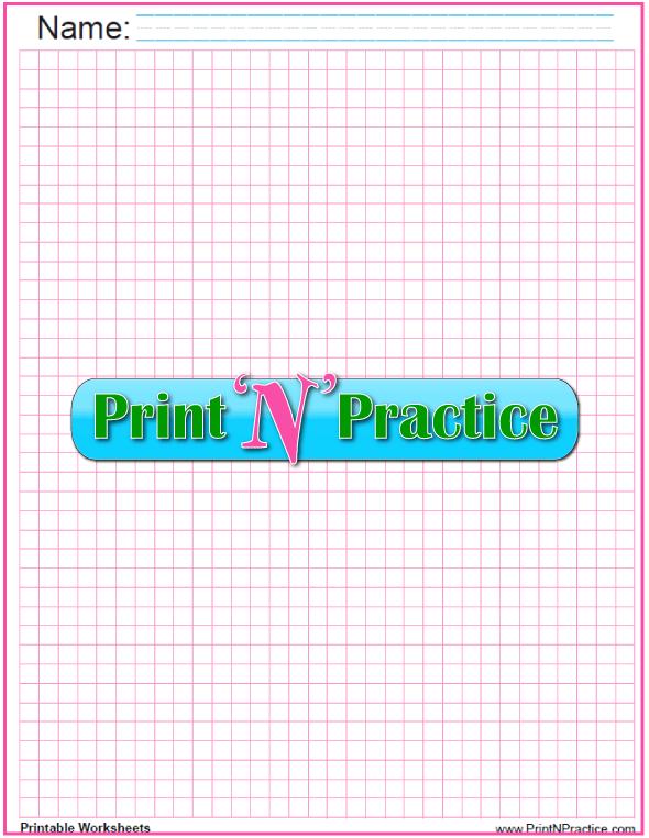 Quarter inch Math graph paper - pink.