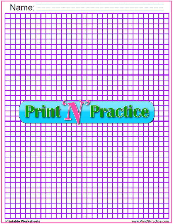 Quarter inch graph paper - purple.