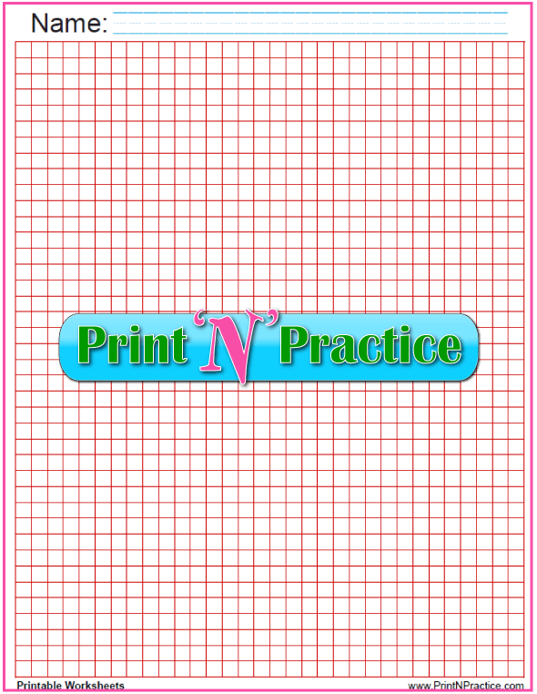 Quarter inch Math graph paper - red.