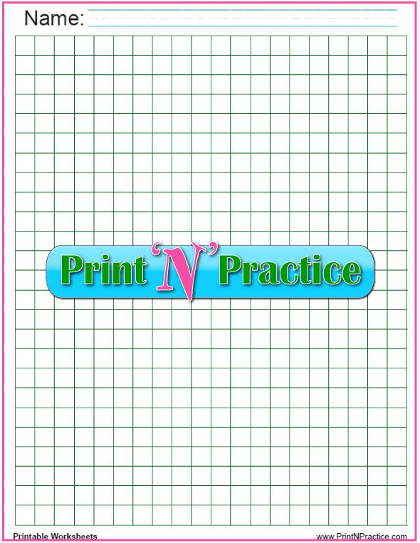 Green centimeter graph paper PDF - 1 cm graph paper.