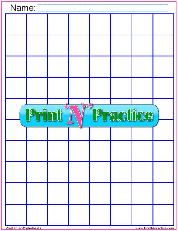Dark Blue - One inch graph paper printable - 1 inch graph PDF.