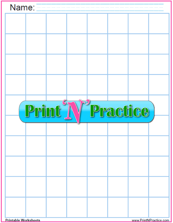 Light Blue - One inch graph paper printable: print and personalize - 1 inch graph paper. Draw on light blue graph paper, photocopy the drawing, and the blue lines will disappear!