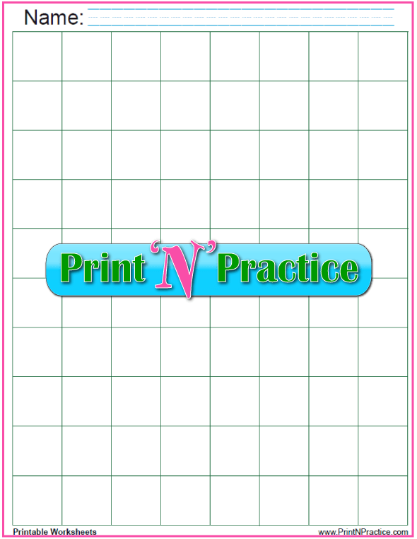 Gift Wrap Graph Paper: Green 1 inch graph paper download.