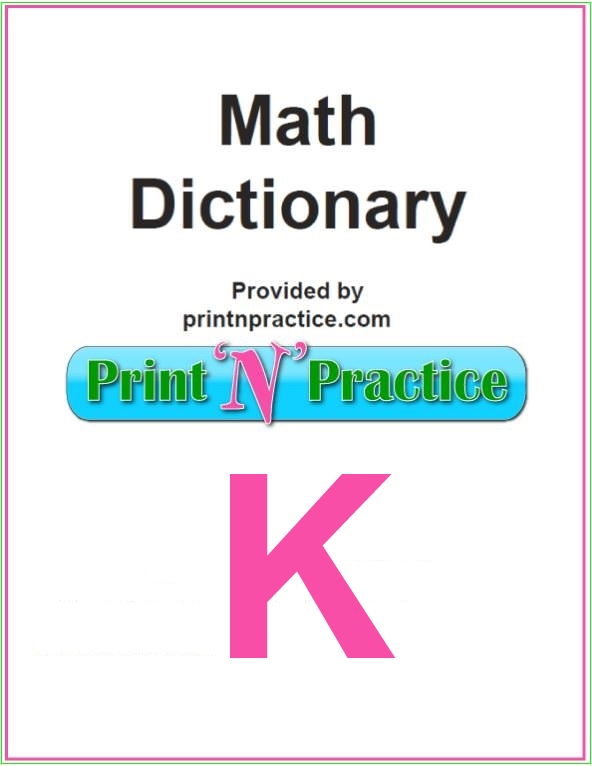 Math Words That Start With K: Kelvin, Kilo, Knot.