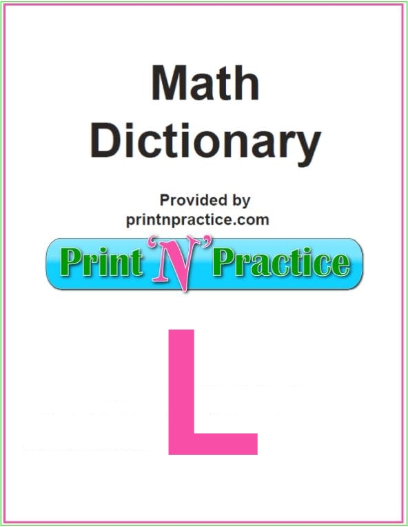 Math Words That Start With L: Line, Leap Year, Legend, Logic. Fill in the terms your math glossary doesn't have.