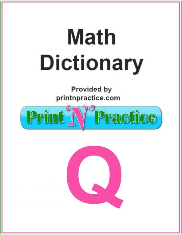 Math Words That Start With Q: Quad, quadratic, quantity, and more.