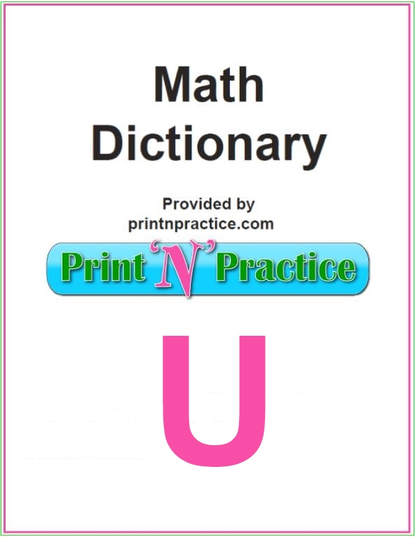 Math Words That Start With U: Uni- is a handy prefix to know.