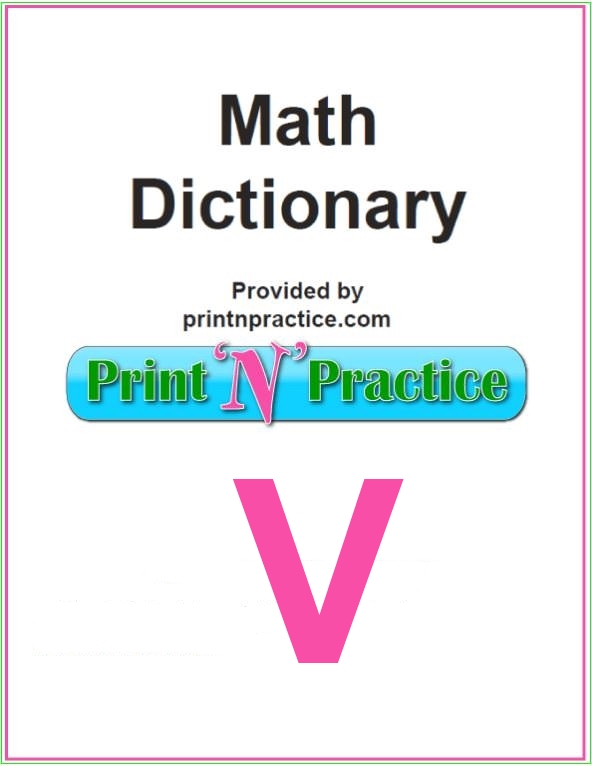 Math Words that start with V: Variable, Vector, Venn. Does your glossary have these?