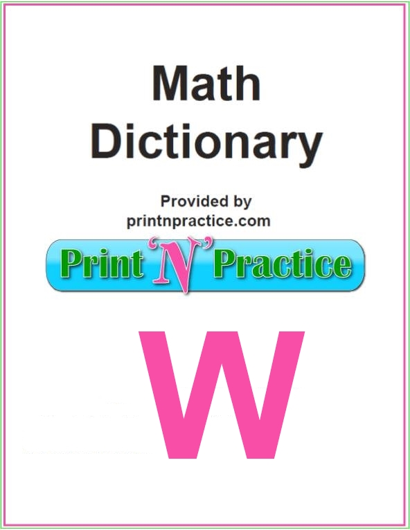 Math Words That Start With W: Whole Numbers, Weight, Width - some pretty important terms.