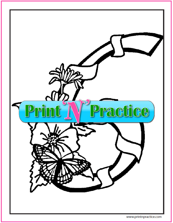 Number 6 Coloring Page