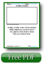A Dillar A Dollar Reading Worksheets For 1st Grade