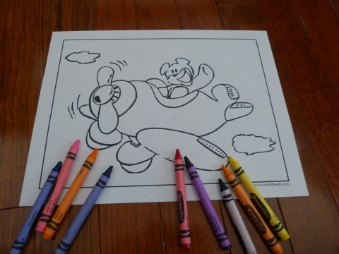 Cute Airplane Coloring Page