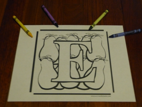 Alphabet Coloring Pages and Letter Worksheets