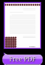 Printable Lined Paper - Argyle Theme