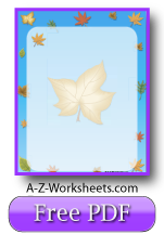 Free Printable Writing Paper: Autumn Leaf