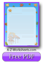 Autumn Printable Lined Paper
