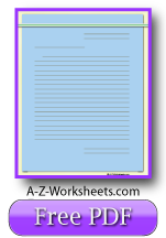Blue Printable Lined Paper