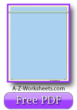 Blue Printable Handwriting Paper