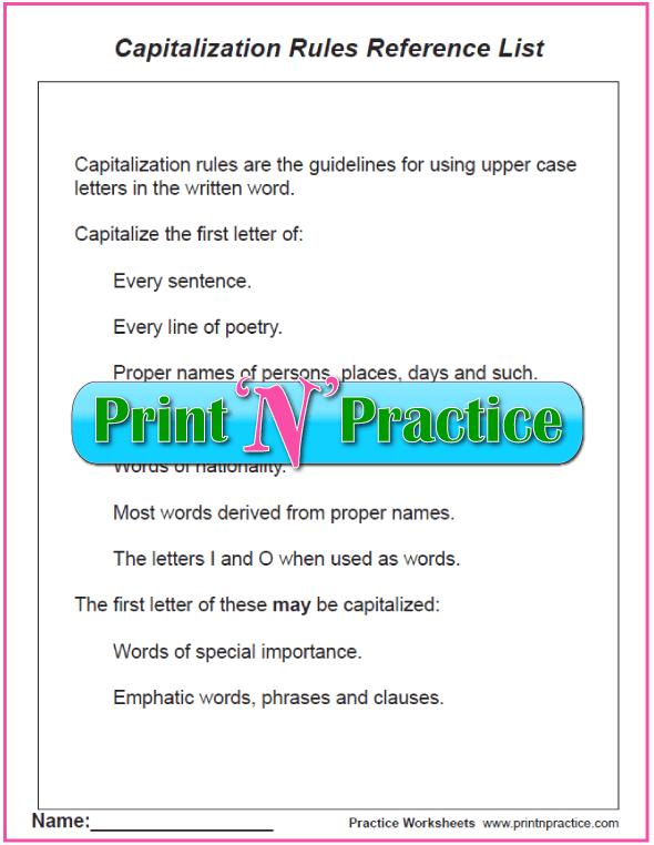 Rules of Capitalization PDF