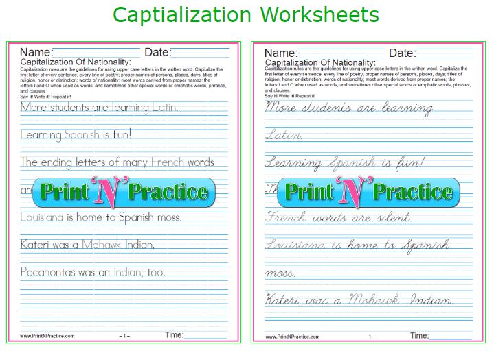 42 Capitalization Worksheets Rules List. Capitalization Worksheets. Worksheet. Abbreviation Rules Worksheet At Mspartners.co
