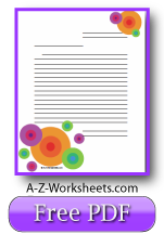 Bright Circles Free Printable Lined Paper