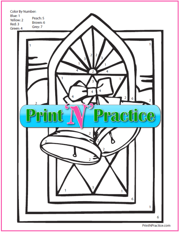 Printable color by number worksheets are fun!