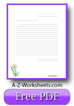 Dandelion Printable Lined Paper