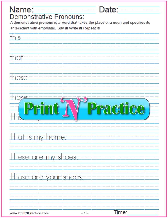 Demonstrative Pronouns PDF