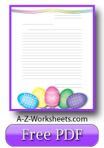 Easter Printable Lined Paper