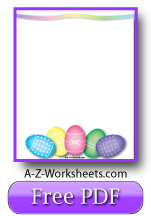 Free Printable Writing Paper: Easter Theme