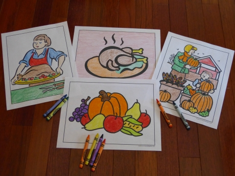 Fall coloring pages and all four seasons