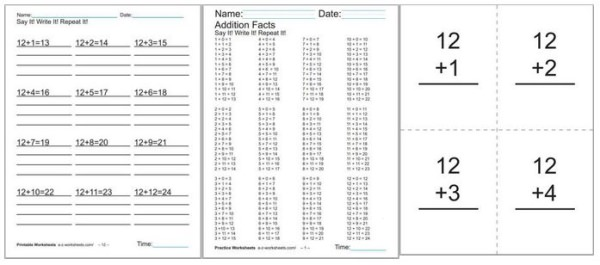 Scores of Addition Worksheets for kindergarten, first, and second grade.