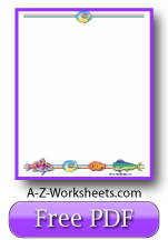 Free Printable Writing Paper: Tropical Fish