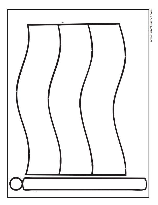 Horizontal Tricolor Flag Coloring Page - German Flag Coloring Page