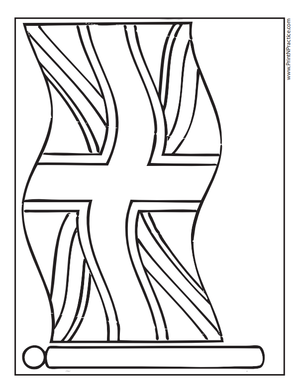 Great Britain Flag Coloring Page