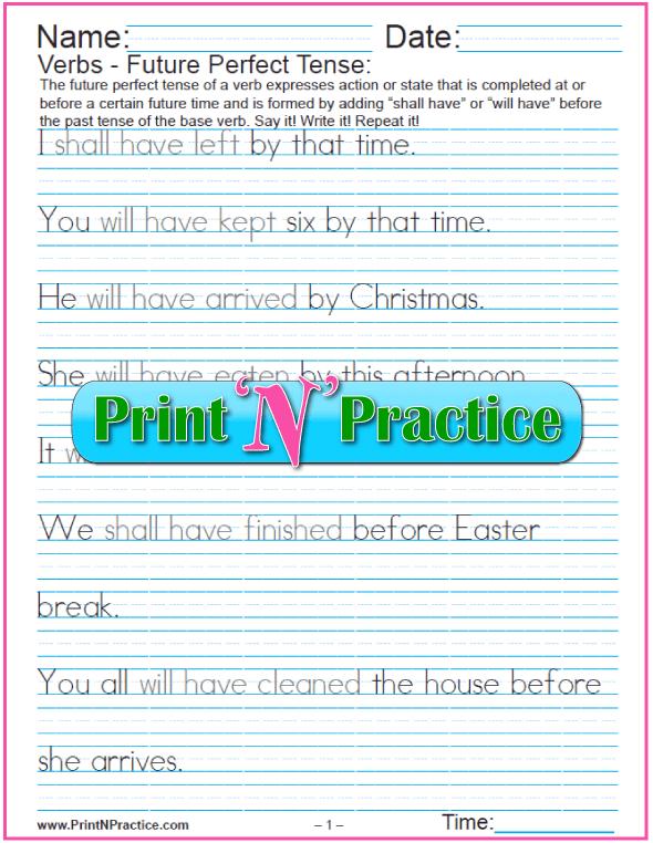 Printable Grammar Worksheets: Verbs, nouns, adverbs, adjectives, prepositions, phrases, clauses, sentences.