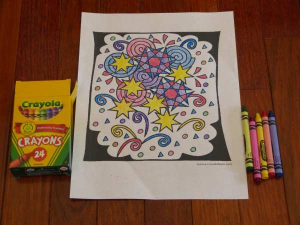 Shapes and Patterns Coloring Pages