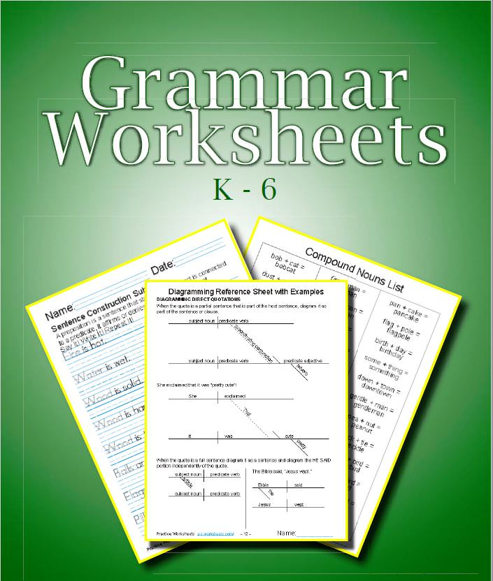 Printable Grammar Worksheets ⭐ Practice Easy English Grammar Lessons