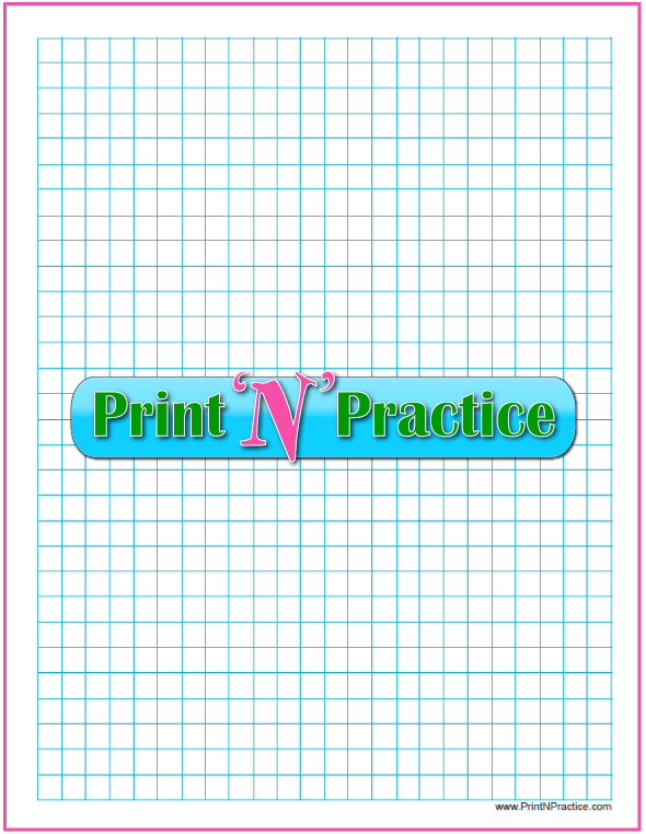 Blue Printable Graph Paper With Narrow Margins