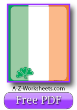 Irish Flag Printable Writing Paper
