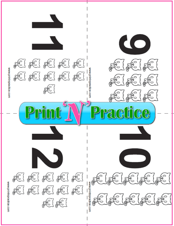 Printable Counting Flash Cards With Kittens