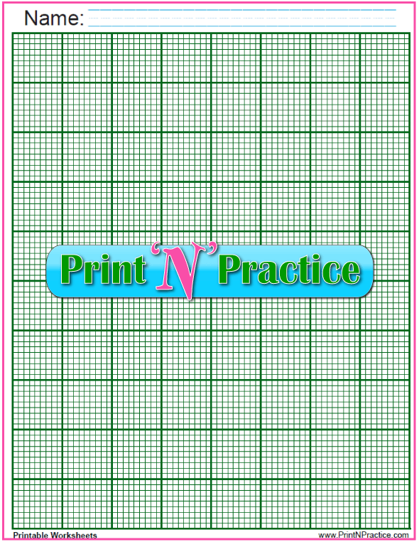 Green Knitting Graph Paper PDF - ten lines per inch. These are interactive so you can plot your own patterns and designs.