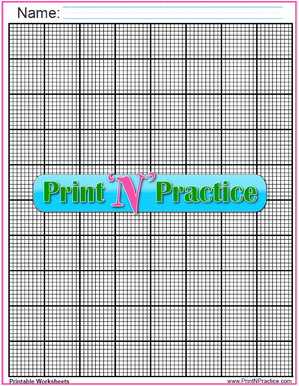Black Knitting Graph Paper Printable - ten lines per inch. These are interactive so you can plot your own patterns and designs.