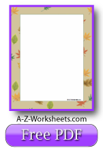 Printable Writing Paper: Falling Leaves