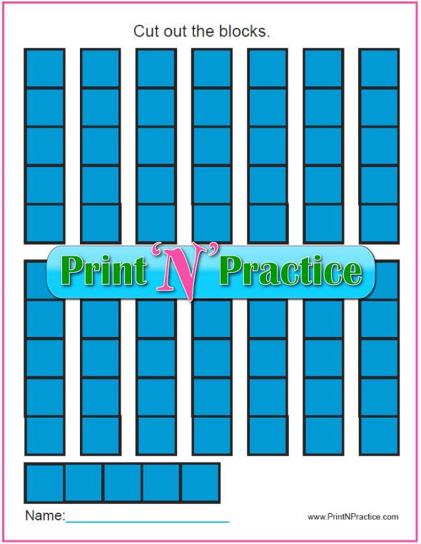 Counting Worksheets: Printable Math Worksheets