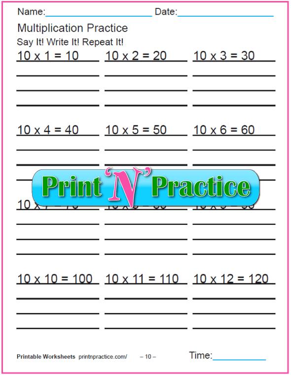 Fun Multiplication Worksheets: Tens Multiplication Worksheet