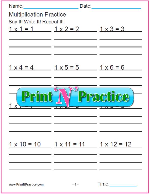 Twelve Multiplication Practice Worksheets PDF Download. Print and practice!